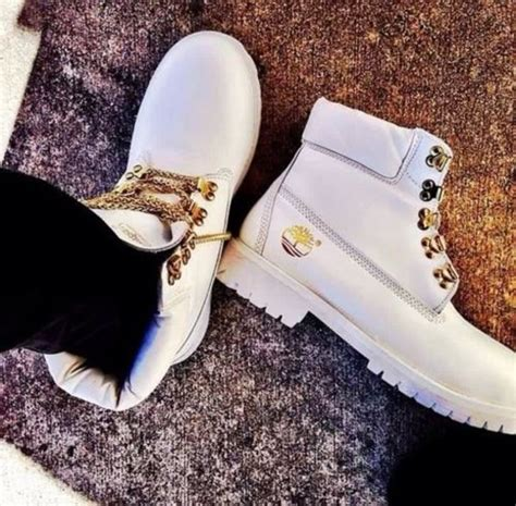 white and gold timberland boots shoes timberlands blanc chaussures white gold shirt
