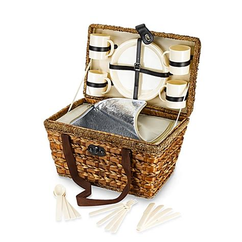 bed bath and beyond baskets bamboo 21 piece insulated picnic basket bed bath beyond