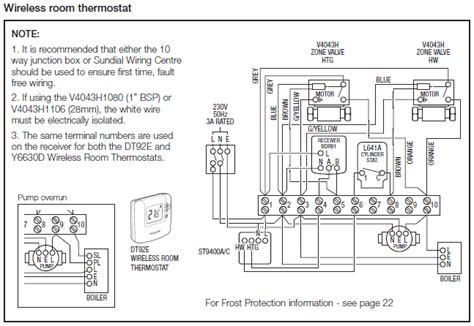 central heating wiring diagrams honeywell sundial s plan