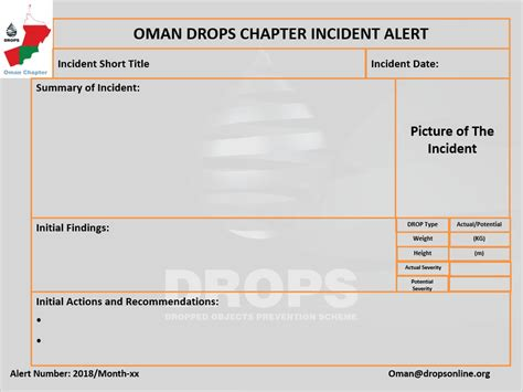 incident alert template incident alert template dropsonline