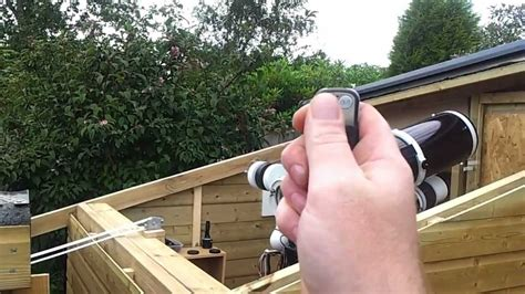 part roll  roof observatory remote controlled youtube