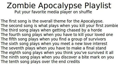 swinging on a star theme song your zombie apocalypse playlist music banter