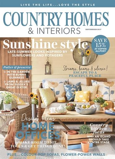 country home design magazines country homes interiors magazine september 2017