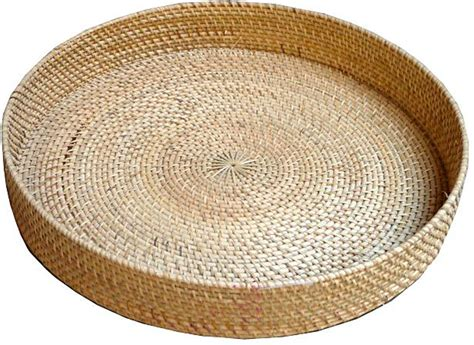 Home Furniture Brands In India by Rattan Large Round Tray Orient House