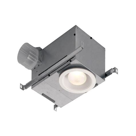 nutone exhaust fan with light nutone humidity sensing recessed 70 cfm ceiling exhaust