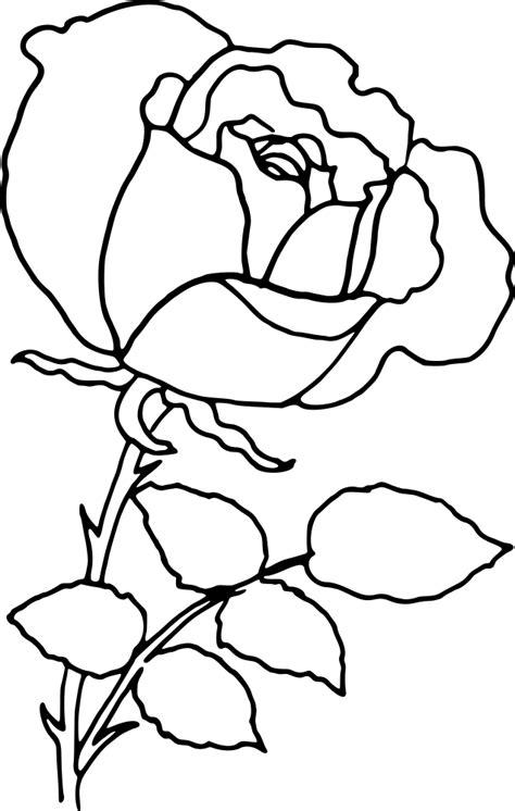 OnlineLabels Clip Art - Rose Outline