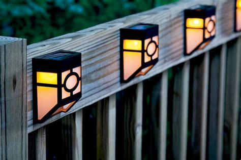 outdoor solar deck lights outdoor solar lights landscape lighting houselogic