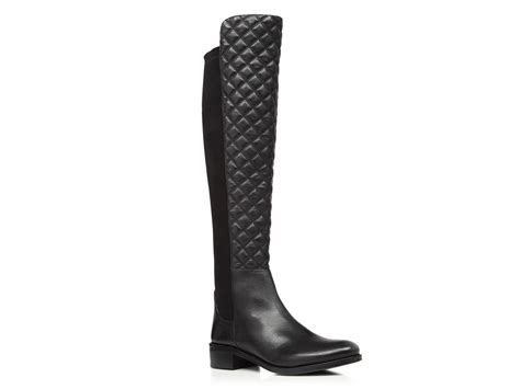 Vince Camuto Quilted Boots by Vince Camuto Justina Quilted Stretch Back High Shaft Boots