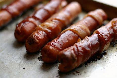 bacon wrapped dogs grill grilled bacon wrapped stuffed dogs recipe dishmaps