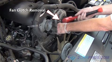 how to remove fan clutch car repair world how a clutch fan works