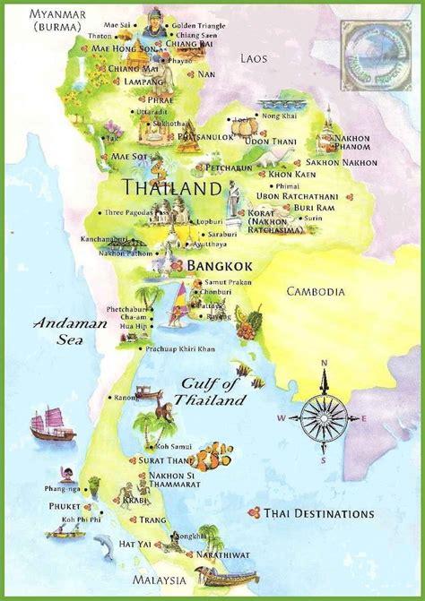 printable map thailand carte de la tha 239 lande cartes sur les reliefs les villes
