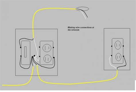 wiring a receptacle from light switch get free image