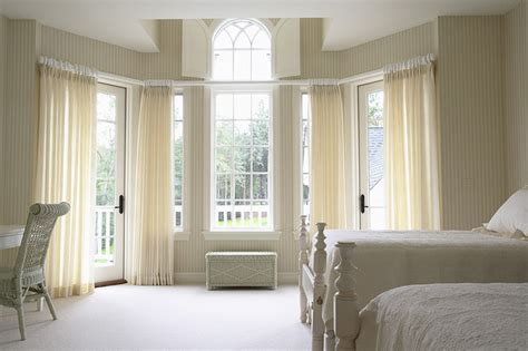 one window bedroom girls bedroom with large bay window traditional
