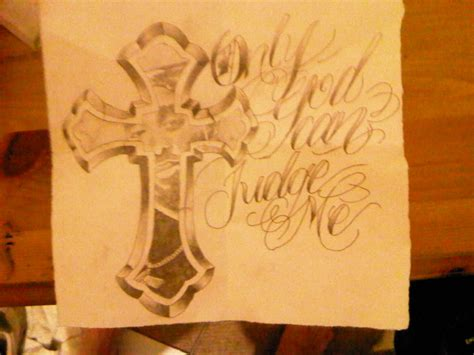 only god can judge me tattoo with cross syella looking for designs only god can judge