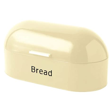 bread loaf storage container bread bin retro curved mirrored steel kitchen loaf food