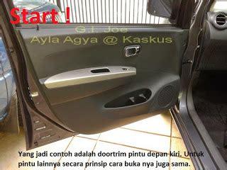 Doortrim Pintu Depan Agya Ayla Ori Automotif bengkel sendiri september 2014