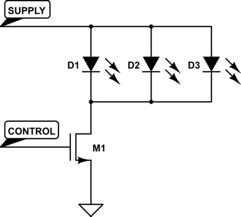 led anode or cathode to ground led using a n mosfet to switch a common cathode ledstrip electrical engineering stack