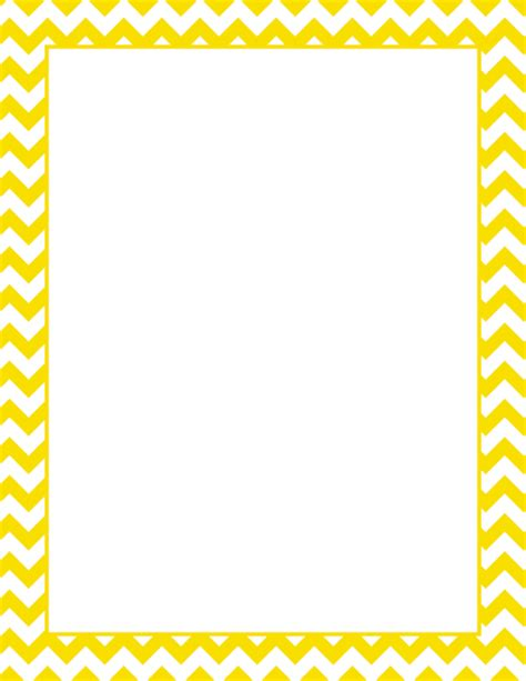 printable yellow chevron border free gif jpg pdf and