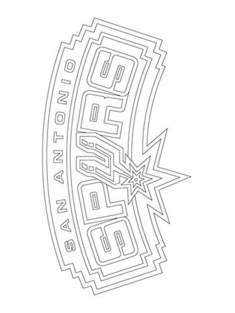 san antonio spurs logo coloring page super coloring