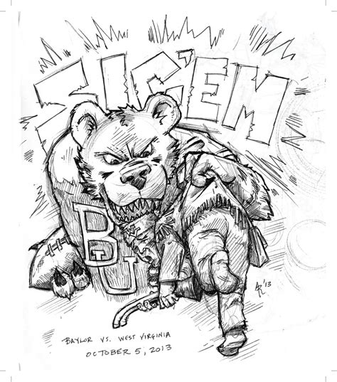 baylor bear coloring pages baylor university football coloring page coloring pages