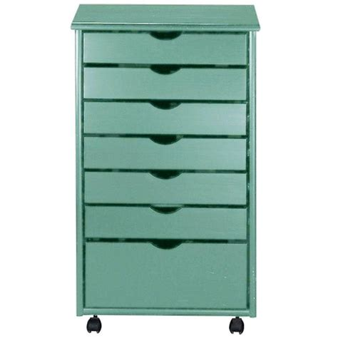 craft storage cart with drawers home decorators collection 20 in w stanton blue 6 1