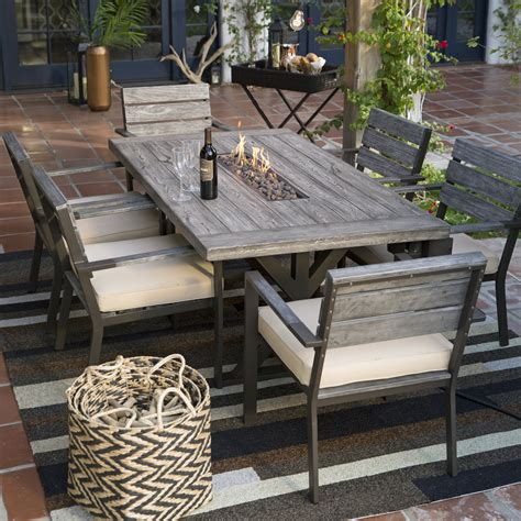 Firepit Patio Set Belham Living Silba 7 Envirostone Pit Patio Dining Set Pit Patio Sets At Hayneedle
