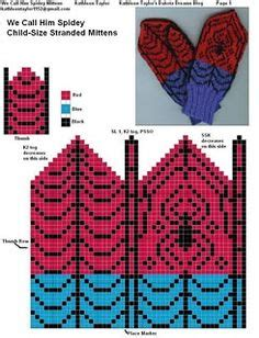 spiderman mittens pattern spiderman mittens pattern knitting and crochet