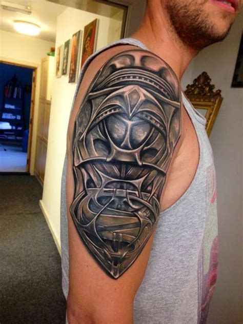 dope shoulder tattoos superman of steel jor el armor custom design