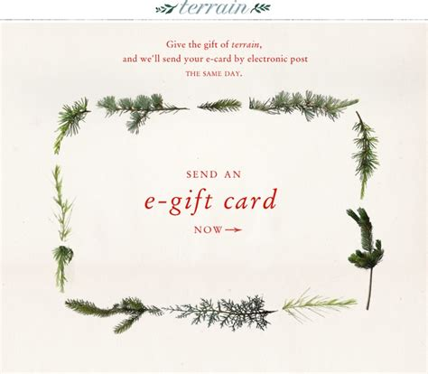 Terrain Gift Card - 43 best images about terrain 2012 holiday emails on pinterest seasons trees and
