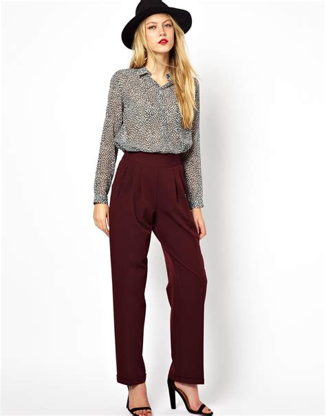 leading the fashion trend asos fitted shirt in asos wide leg trousers with high waist shopping