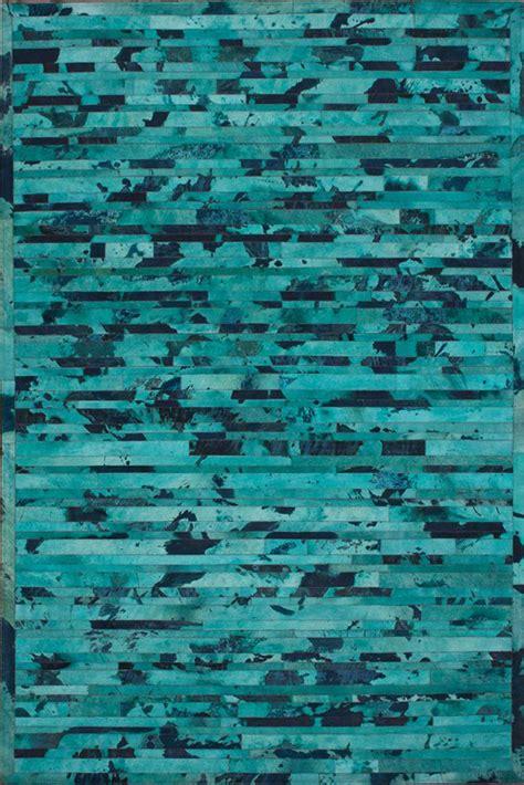Turquoise Cowhide Rug stripe cowhide rug in turquoise rosenberryrooms