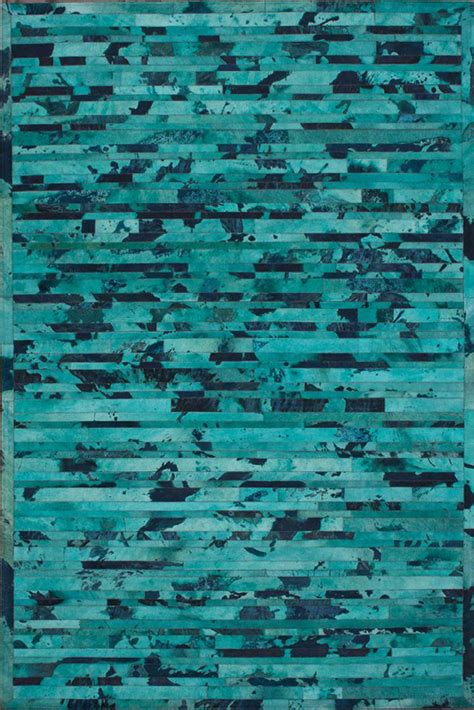 Turquoise Cowhide Rug by Stripe Cowhide Rug In Turquoise Rosenberryrooms