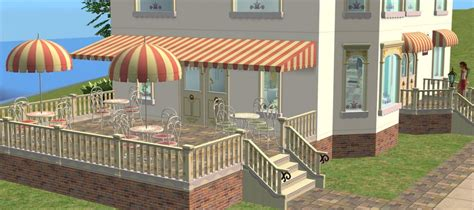sims 3 awning mod the sims arcady ice cream parlour pt 3 object recolours