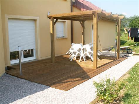 terrasse pergola pergola terrasse en bois