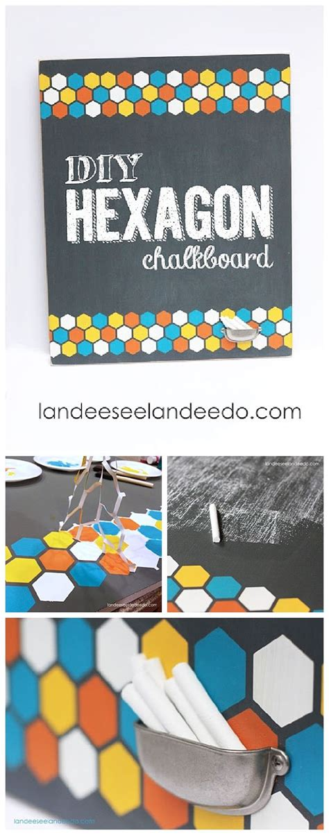 Hexagon Chalkboard Landeelu - 129 best kid crafts images on