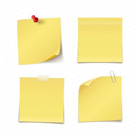 Post It Stick It Sticky Memo Model Tensoplast Buku Tuli Murah Adhesive Notes Illustrations On Creative Market