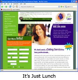 just for lunch dating service cost