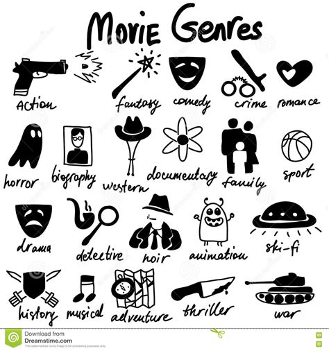 fantasy film genre elements cinema genres theme stock vector image of fiction