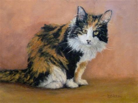 calico cat painting daily painting projects wary calico painting cat pet