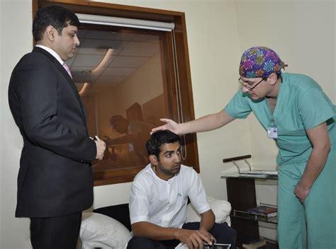 gautam gambhir hair transplant cricket player gautam gambhir having hair restoration