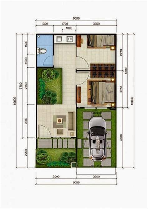 denah rumah minimalis type 36 terbaru lengkap dengan ukurannya design arsitektur 2017