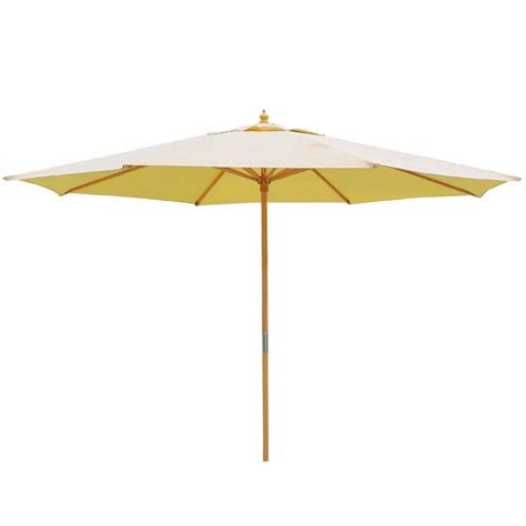 Wooden Patio Umbrella 13ft Patio German Wooden Umbrella Wood Pole Outdoor Yard Cafe Garden Shade Ebay