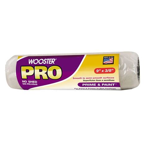 home depot pro x paint wooster pro 9 in x 3 8 in high density prime and paint