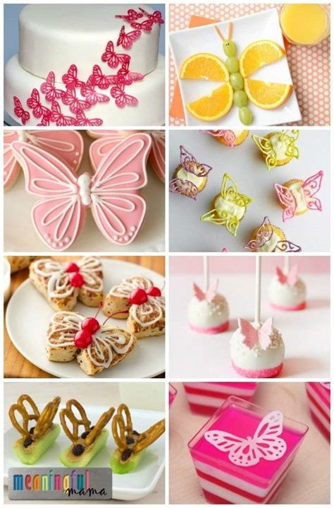 butterfly themed birthday party food desserts events 17 best ideas about butterfly snacks on pinterest