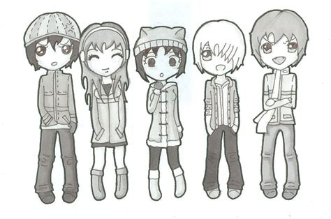 Chibi Winter Clothes By Darkmoon 13 On Deviantart How To Draw Chibi Boy Clothes Free