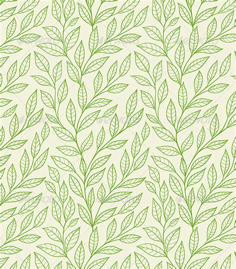 seamless pattern nature seamless pattern with green leaves by artness graphicriver