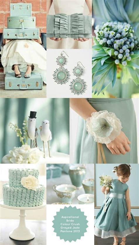 Pantone Greyed Jade Wedding Theme   beautiful for vintage