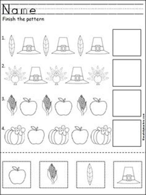 pattern recognition for preschool free thanksgiving pattern worksheet templates