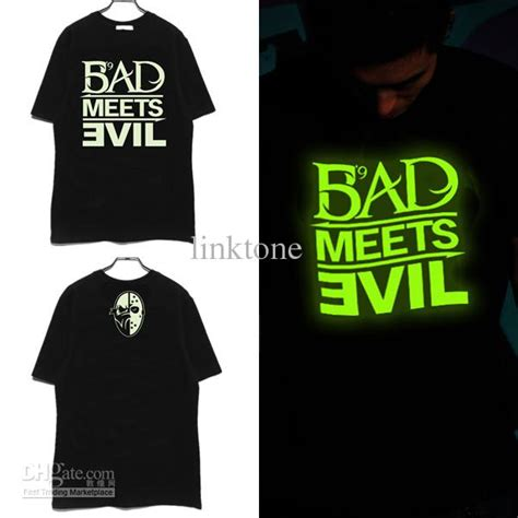 Kaos Bad Meets Evil Eminem eminem bad meets evil noctilucent hip hop t shirts