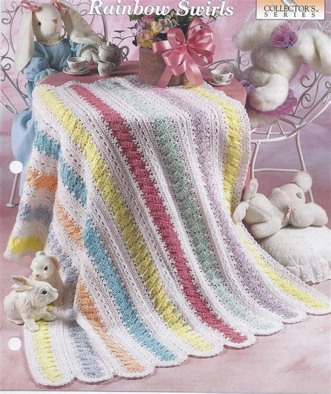 Rainbow Swirls Baby Afghan Crochet Pattern   Baby & Children